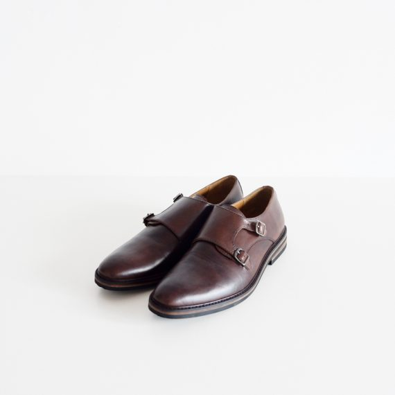 Monkstrap Handpaint Brown-Denver Sole-1 (1850k IDR, 205 USD)